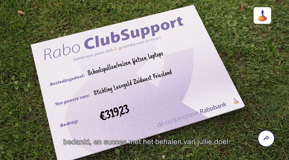 Rabo Clubsupport uitslag